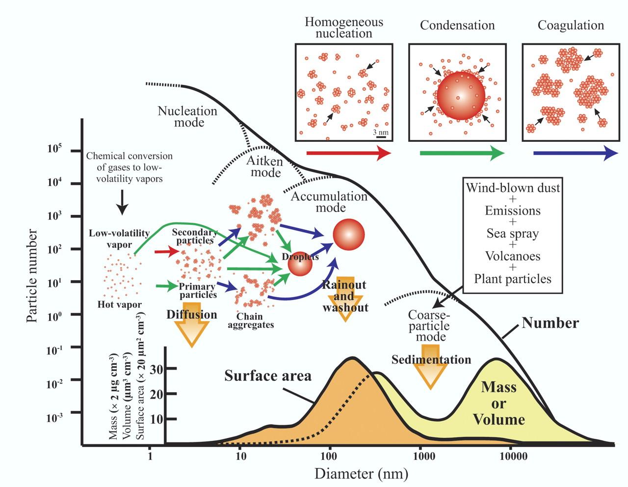 Origin of Dust Particulate Matter
