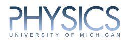 University of Michigan Physics Department logo