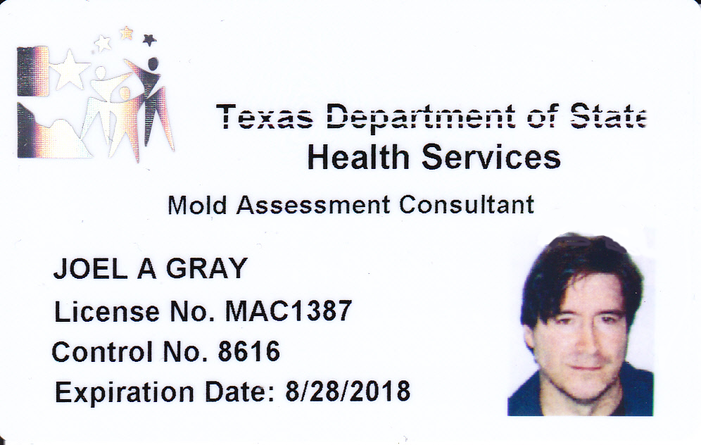 Joel-Anthony Gray Mold Assessment Consultant Texas ID