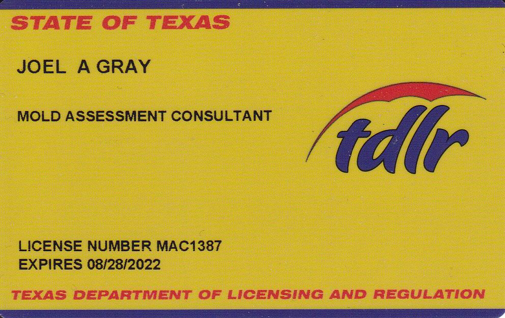 Mold Assessment Consultant MAC1387