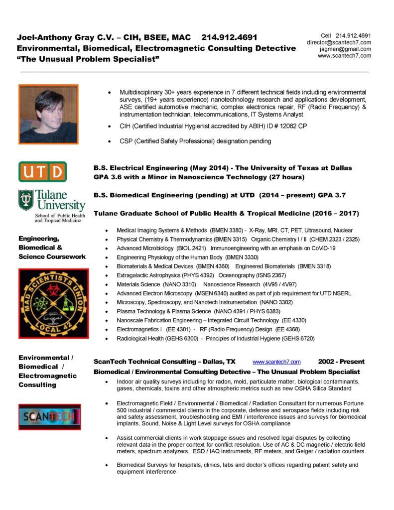 EMF EMI Survey Biomedical Consultant